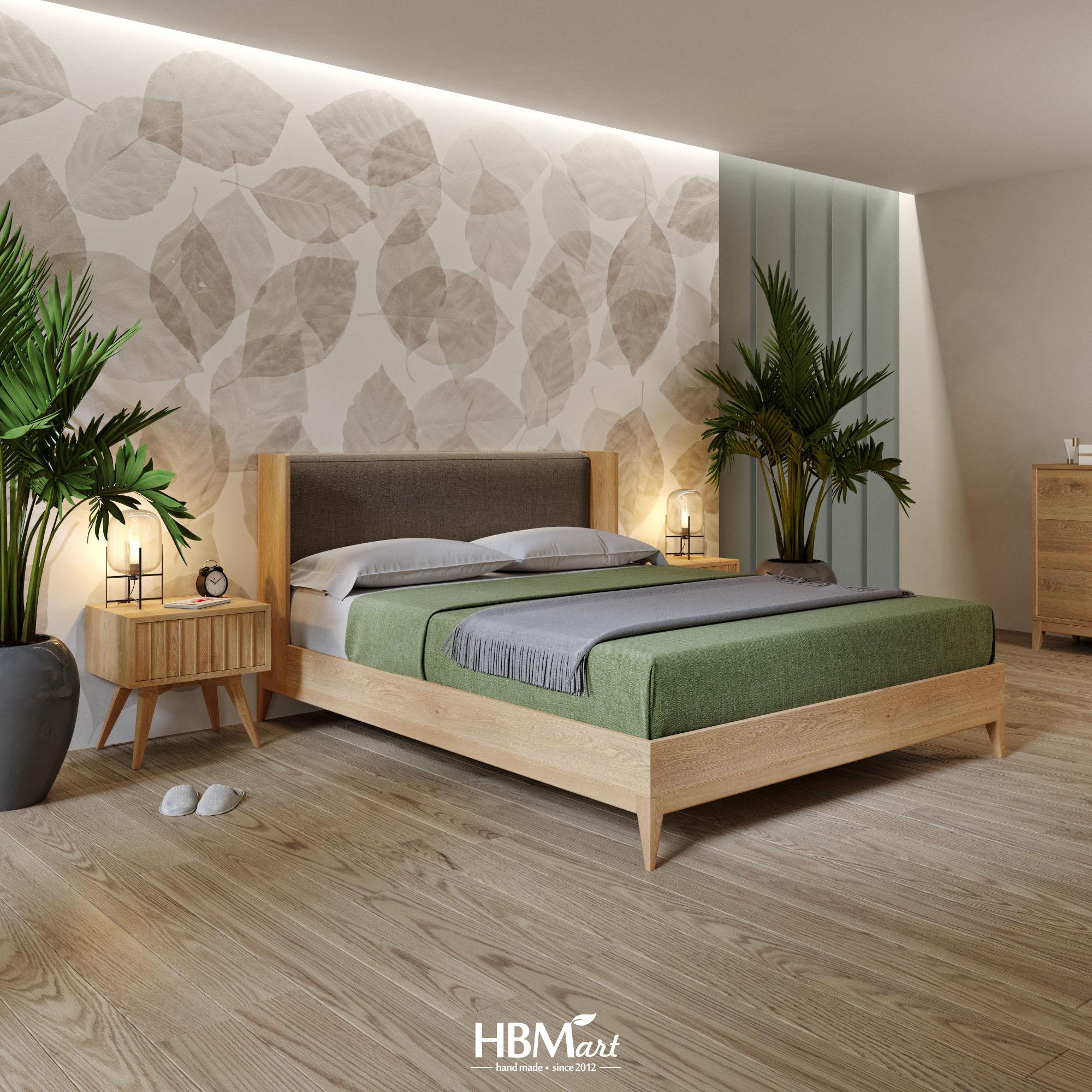 двоспальне ліжко з масиву дерева