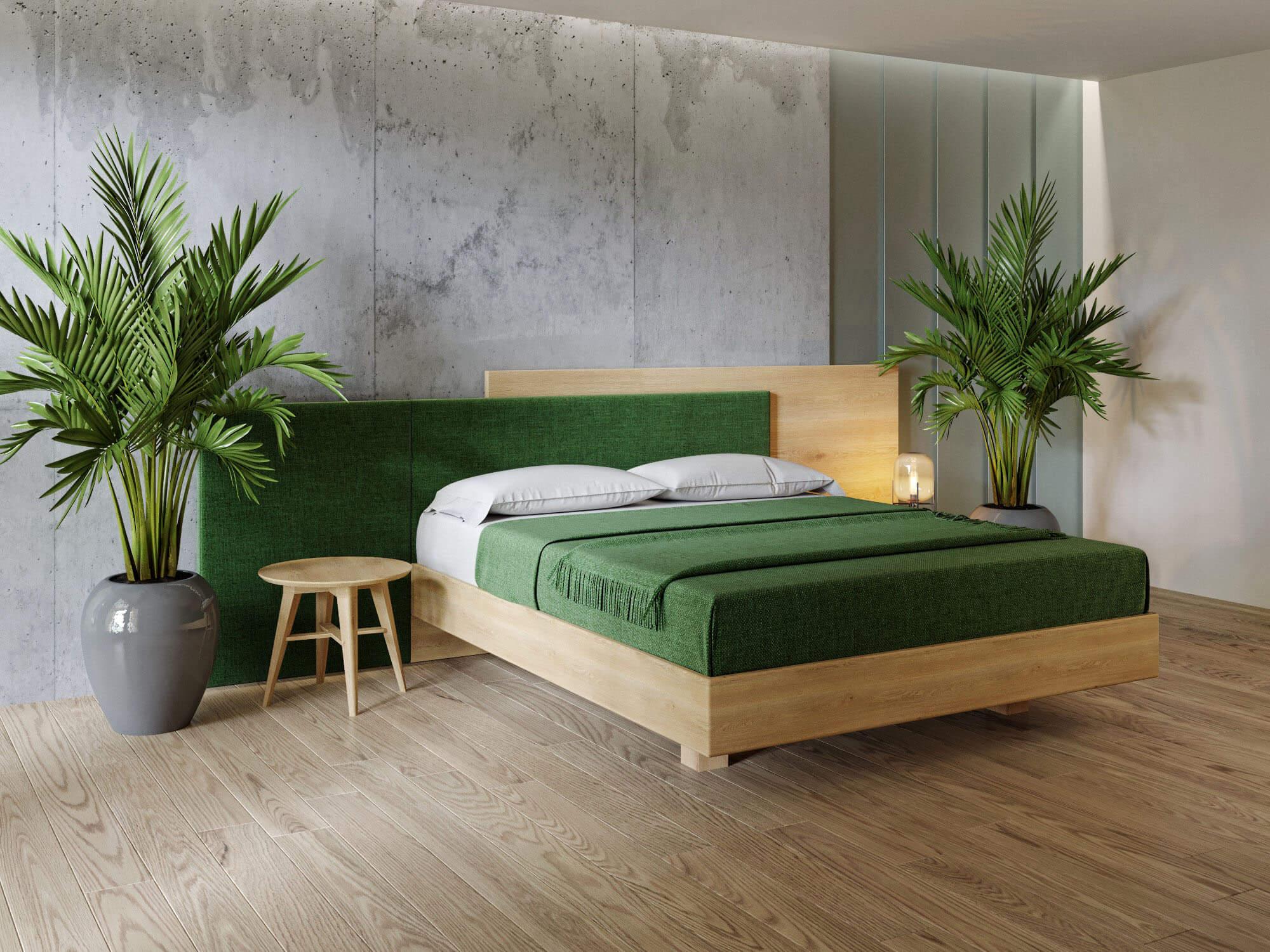 Двуспальная кровать LEON из массива дуба от hbm-art