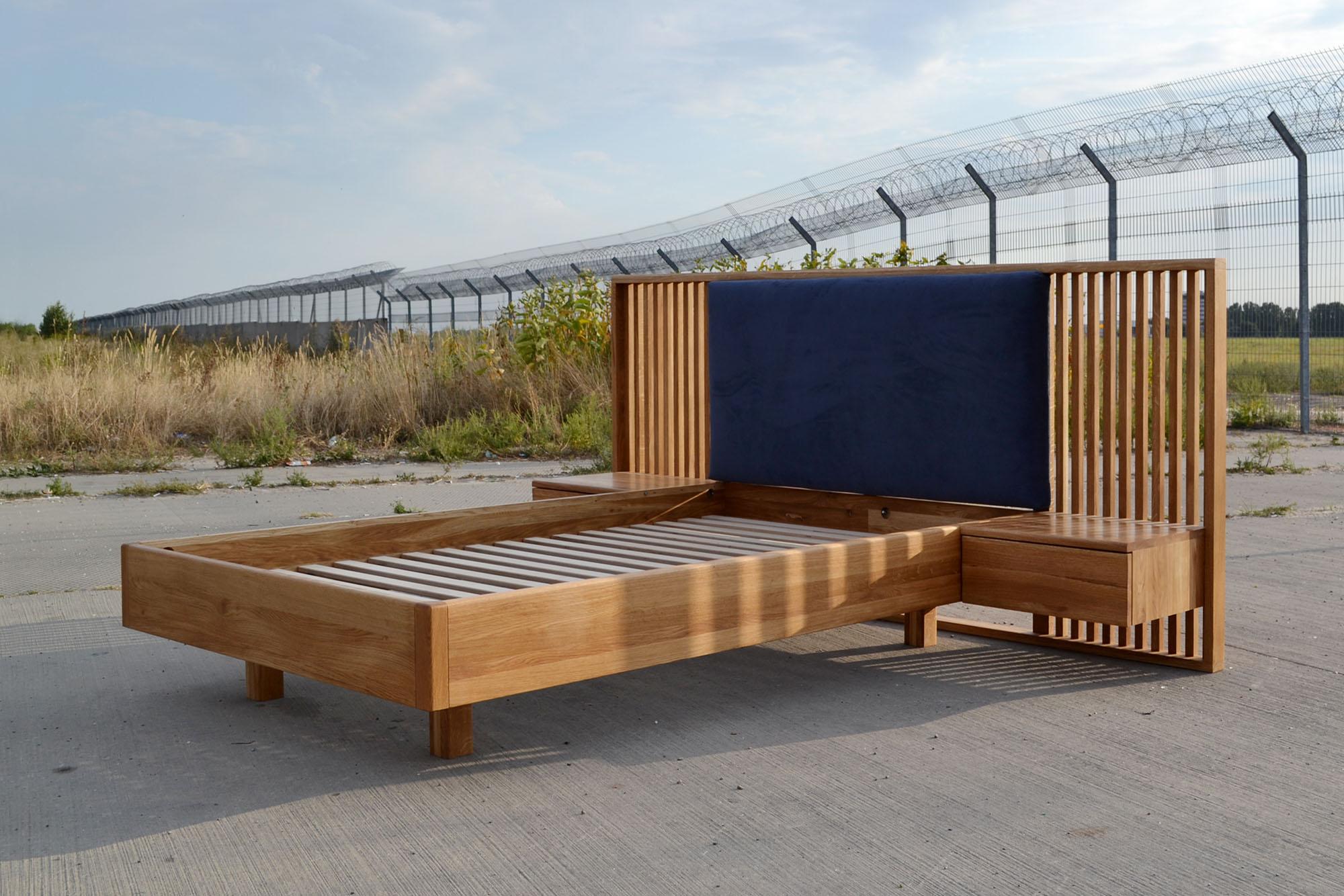 Изготовление кроватей из массива дуба на производстве HBMart